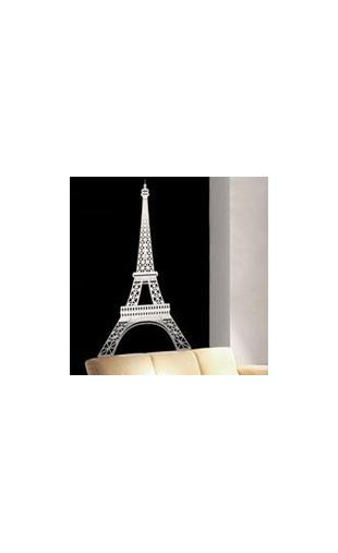 stickers tour eiffel design autocollant tour eiffel monument pas cher. Black Bedroom Furniture Sets. Home Design Ideas