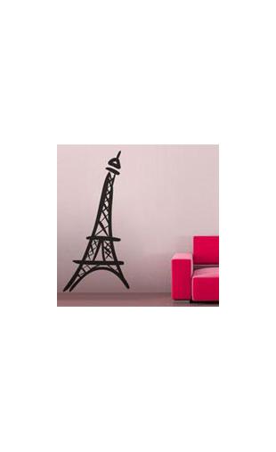 sticker tour eiffel 3 vinyz. Black Bedroom Furniture Sets. Home Design Ideas