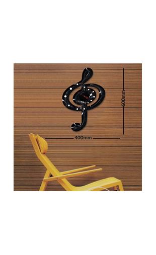 sticker horloge clef de sol vinyz. Black Bedroom Furniture Sets. Home Design Ideas