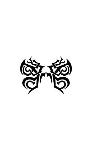 Sticker tribal papillon vinyz - Tribal papillon ...
