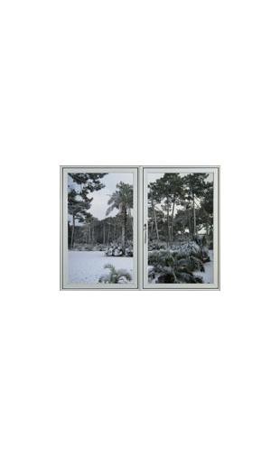 Sticker fenetre hiver vinyz for Fenetre hiver