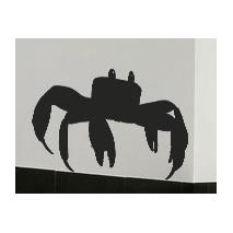 Sticker mural crabe