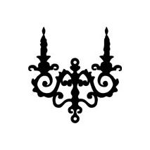 Sticker baroque chandelier 2