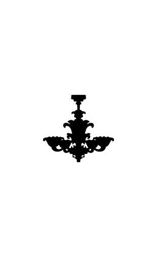 Sticker baroque luminaire 2