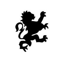Sticker lion baroque