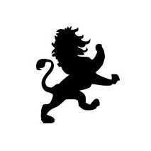 Sticker lion baroque 2