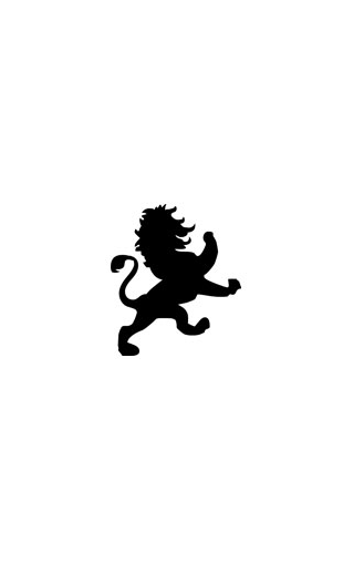 Sticker lion baroque 2