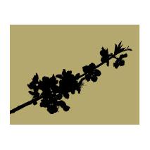 Sticker branche fleur 1