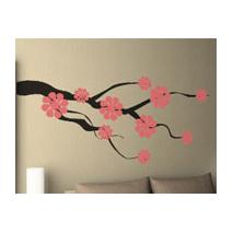 Sticker branche fleur