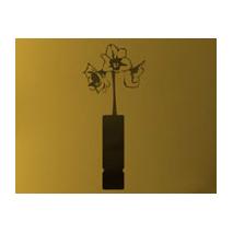 Sticker vase fleur