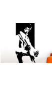 Sticker legende jimi guitare