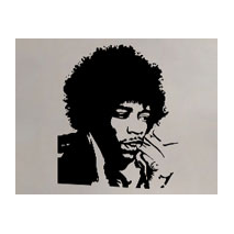 Sticker portrait jimi