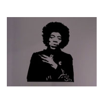 Sticker guitariste jimi