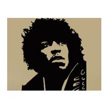 Sticker guitariste legende