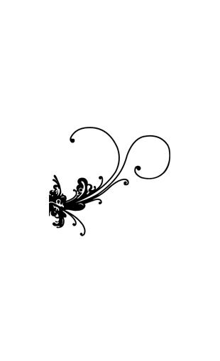 Sticker floral baroque 2