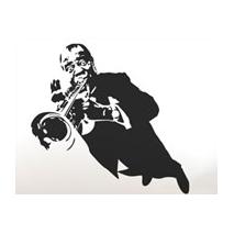 Sticker trompettiste jazz