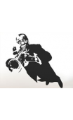 Sticker trompettiste jazz