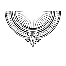 Sticker moulure baroque