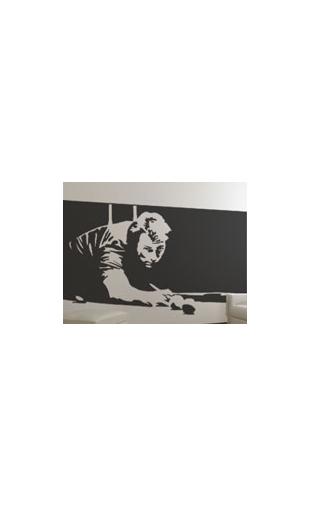 Sticker joueur billard