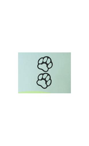 Sticker pattes de chien