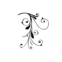 Sticker floral baroque 3