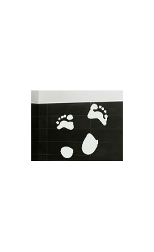 Sticker traces de pieds