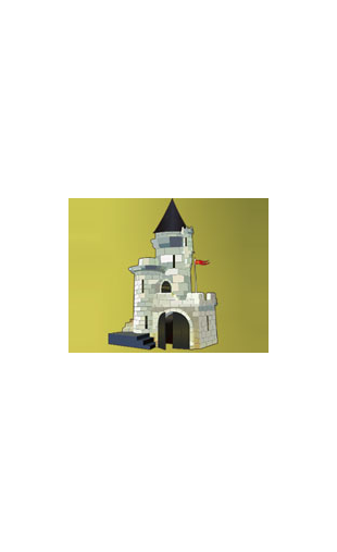 Sticker chateau fort chevalier
