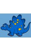 Sticker dinosaure à pois