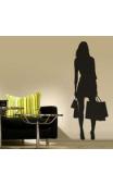 Sticker femme shopping