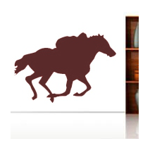 Sticker cheval galop