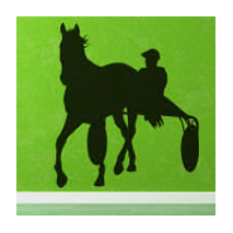 Sticker cheval trotteur