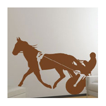 Sticker cheval au trot