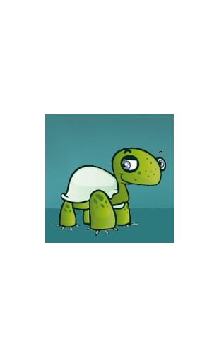 Sticker tortue garçon