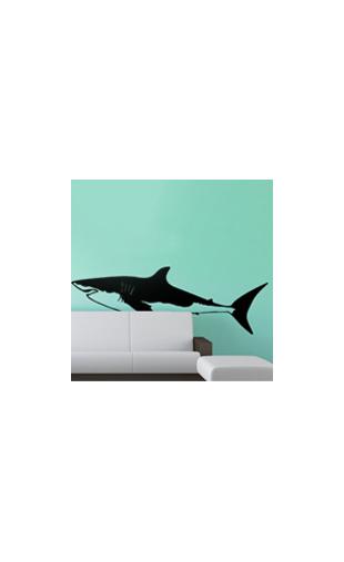Sticker Requin Blanc