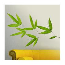 Sticker feuilles de bambou