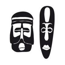 Sticker masque africain 1
