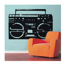 Sticker ghettoblaster 2