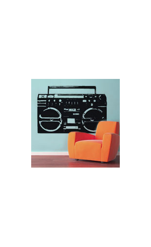 Sticker ghettoblaster