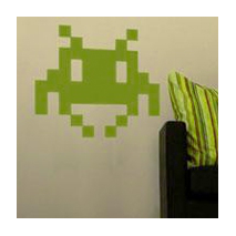 Sticker space invader