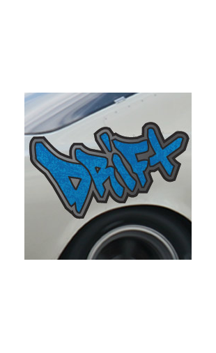 Sticker voiture Drift bleu