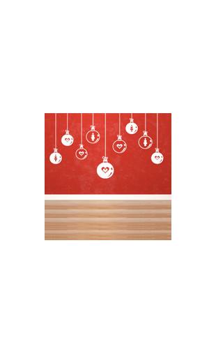Sticker Boules de Noël