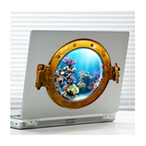 Sticker hublot aquarium 2