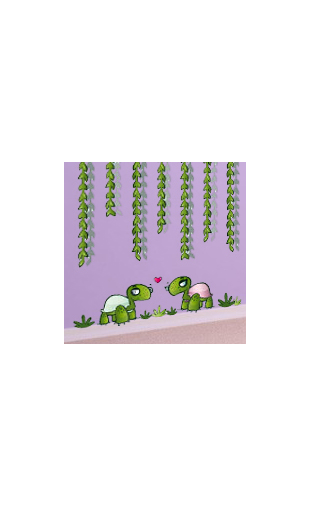 Sticker univers tortue