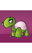 Stickers tortue fille