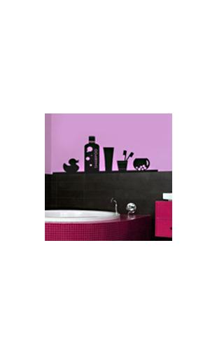 Sticker étagère bain