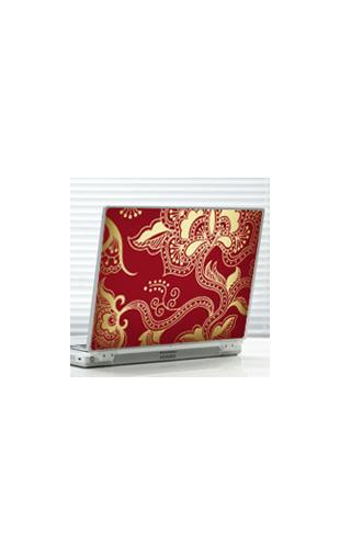 Sticker motif fleuri rouge