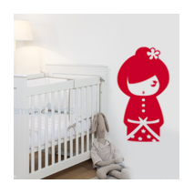 Sticker kokeshi Sakumi rouge