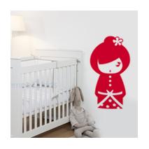 Sticker kokeshi Sakumi rouge