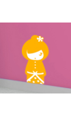 Sticker kokeshi Sakumi orange