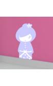 Sticker kokeshi Sakumi mauve